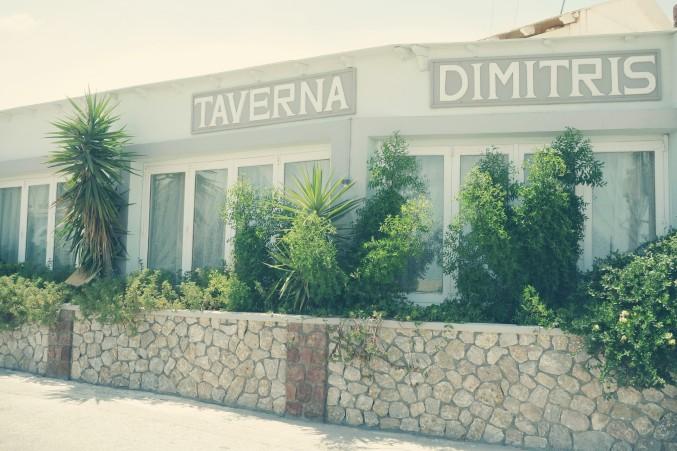 Façade de l'hôtel et de la taverna