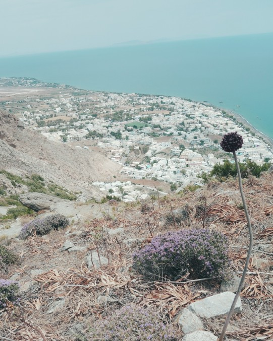 Vue du sommet de Kamari